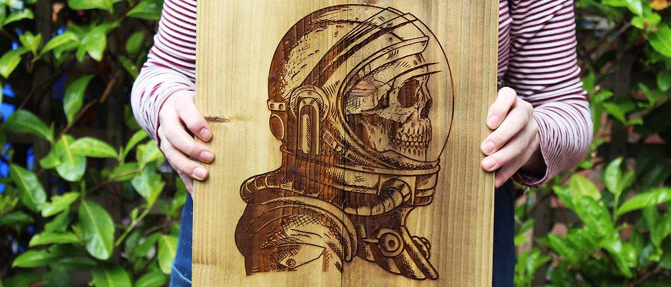 Space Skull Panel Art