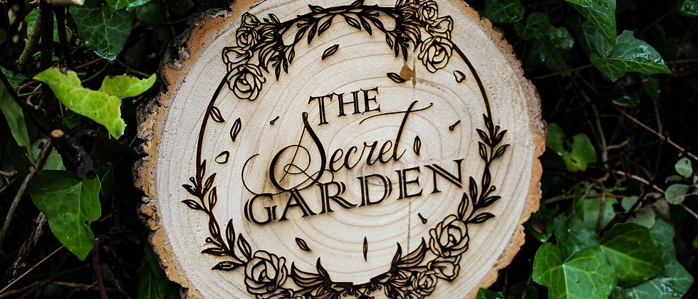 The Secret Garden Log Slice