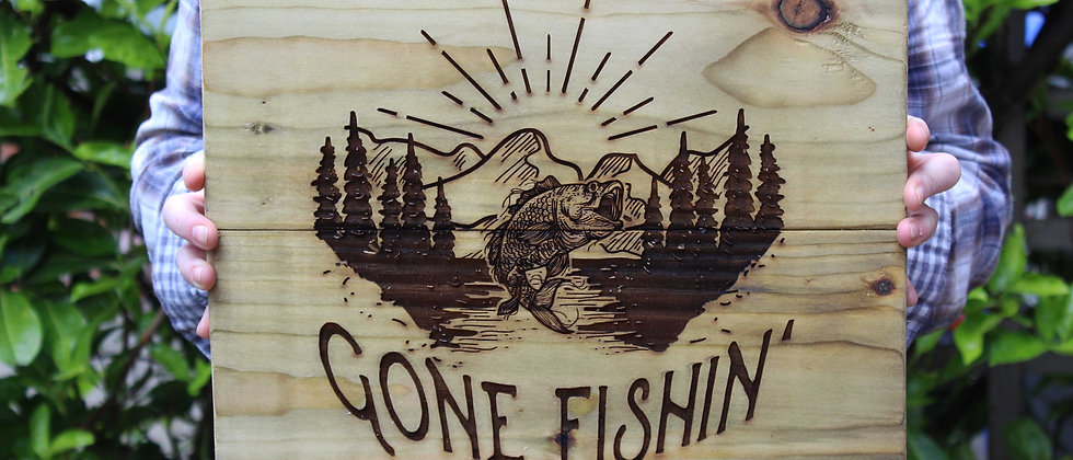 Gone Fishin' Panel Art