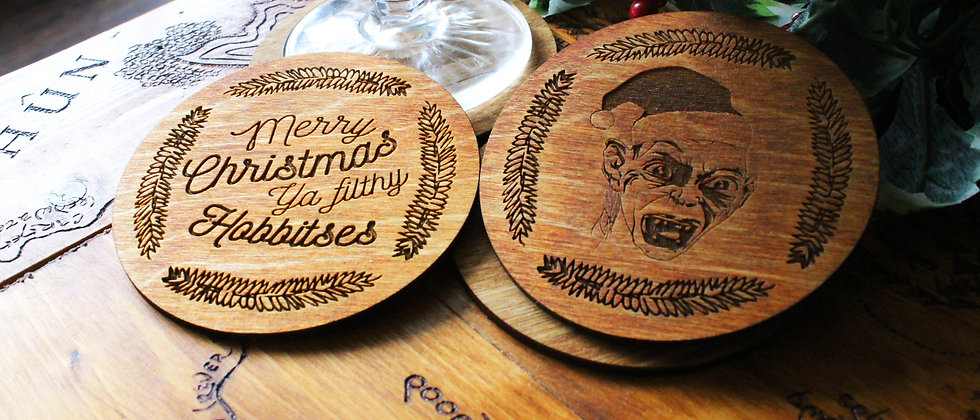 Hobbit Christmas Coasters
