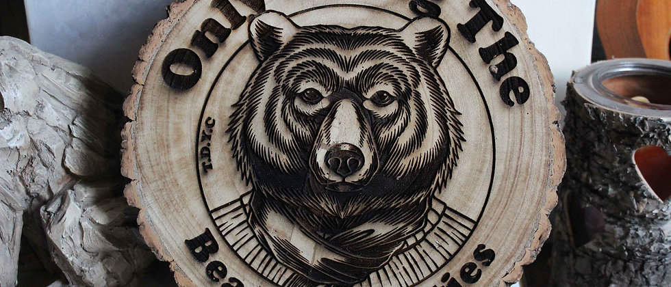 Bear Necessities Log Slice