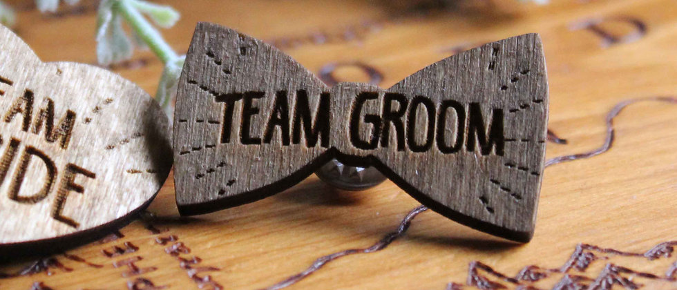 Team Groom Pins