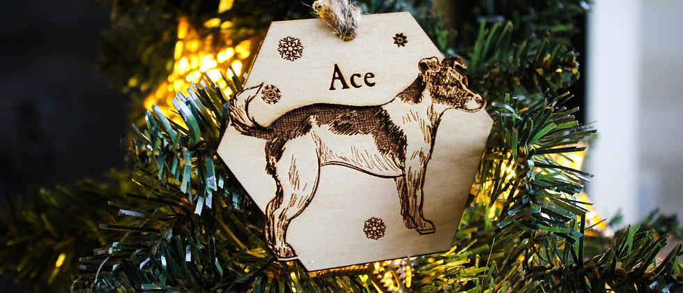 Jack Russell Christmas Bauble