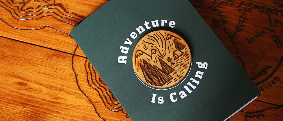 Adventure Is Calling - Greeting Card & Magnet