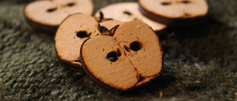 Apple Slice Wooden Buttons