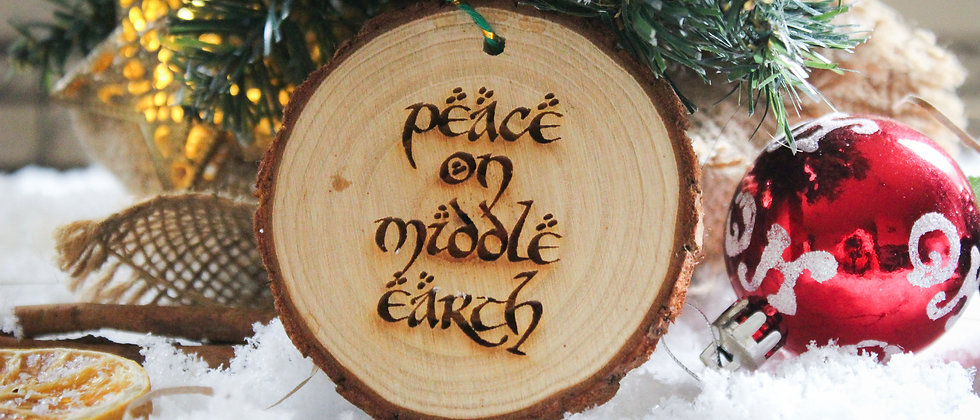 Peace on Middle Earth Bauble