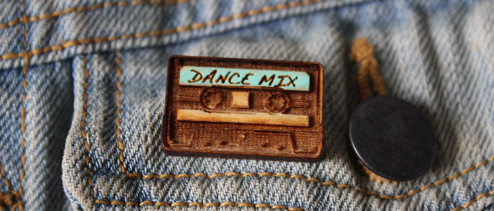Dance Mix Tape Pin