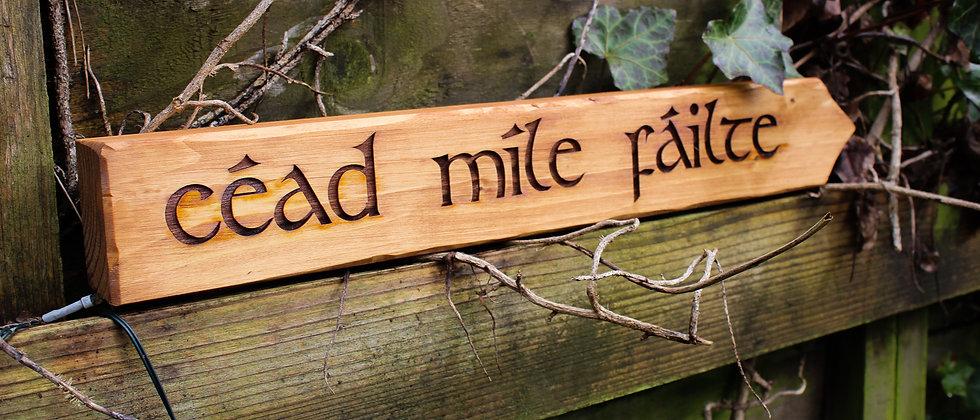 Céad Míle Fáilte Sign