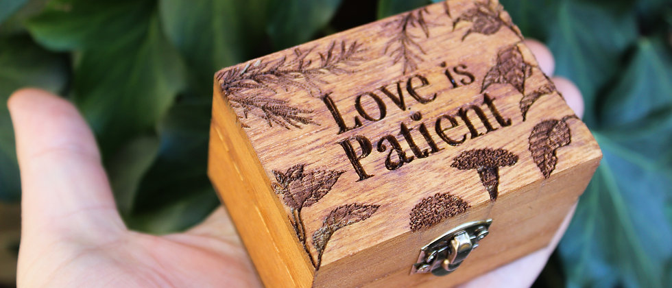 Love Is Patient Ring Box