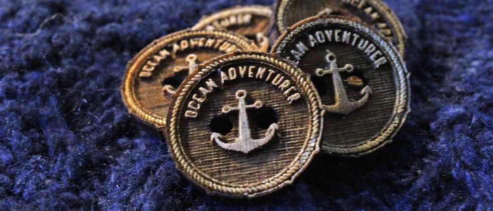 Nautical Wooden Buttons