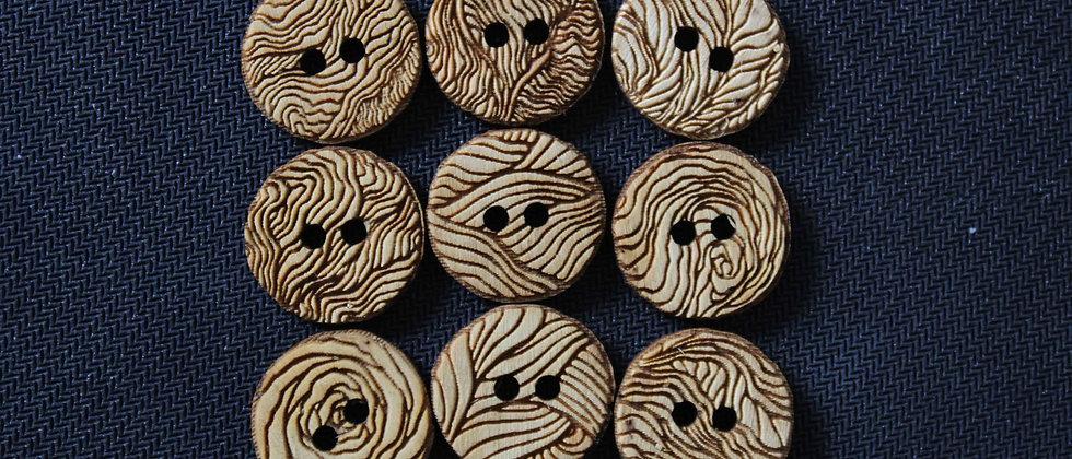 Wood Grain Wooden Buttons