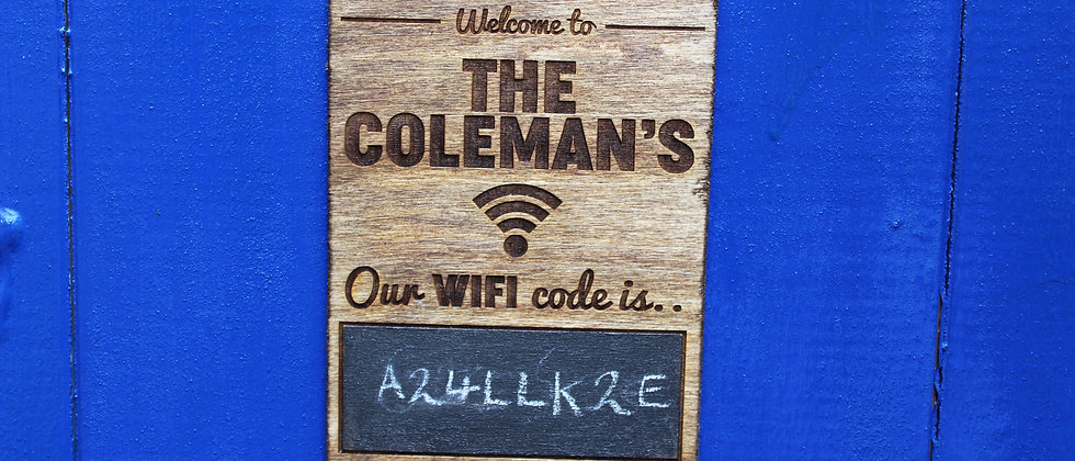 Personalised WiFi Sign