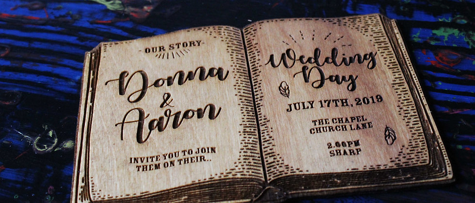 Book Wedding Invitations (Set of 10)