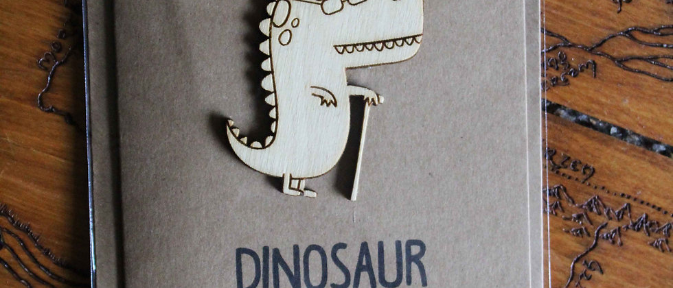 Old Dinosaur Greeting Card