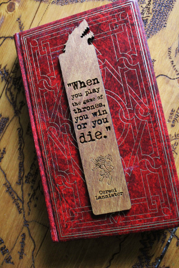 game of thrones bookmark fathers day gift when you play the game of thrones you win or you die cersei wooden bookmark