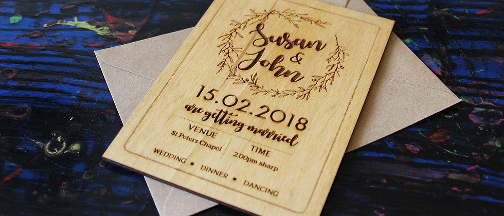 Boho Wedding Invitations (Set of 10)