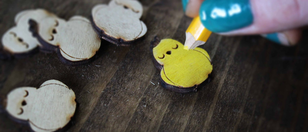 Easter Chick Shapes