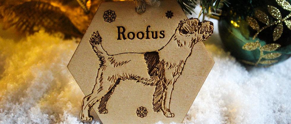 Border Terrier Christmas Bauble