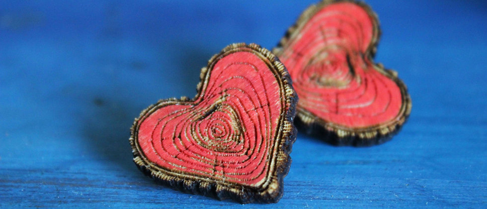 Wooden Heart Pin