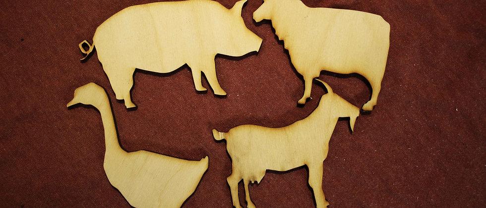 Farm Animal Shapes