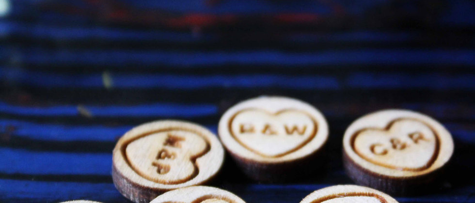 Wooden Personalised Love Heart Confetti