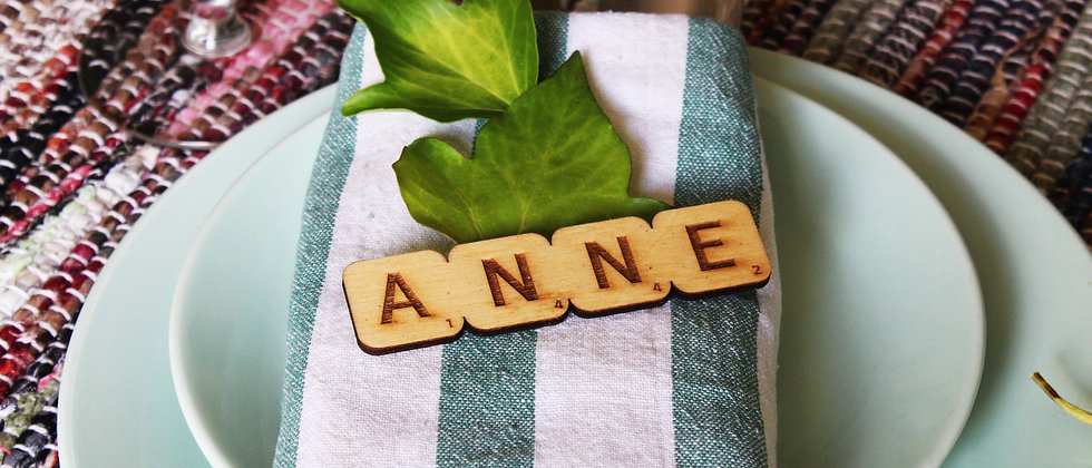 Scrabble Name Settings (Set of 10)