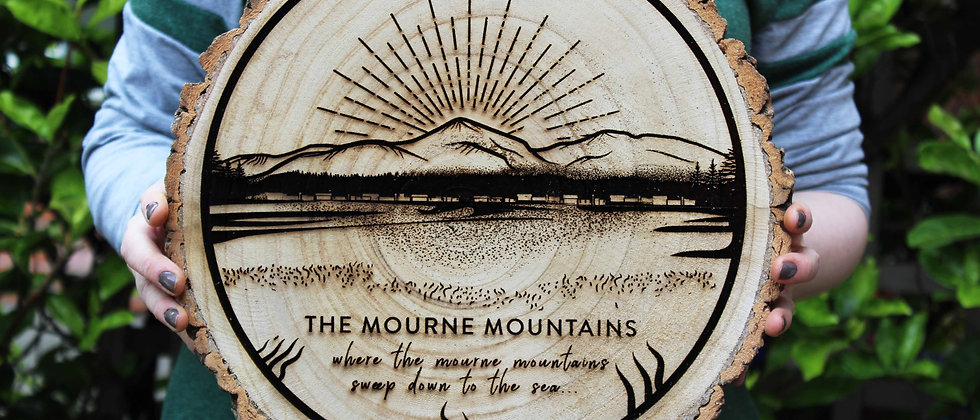 Mourne Mountains Log Slice