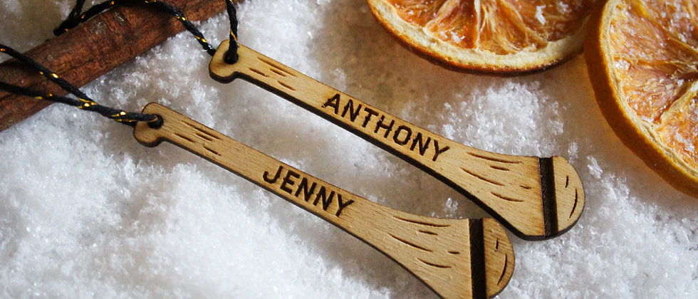 Personalised Christmas Hurling Stick Ornament