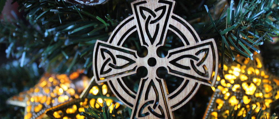 Celtic Cross Bauble