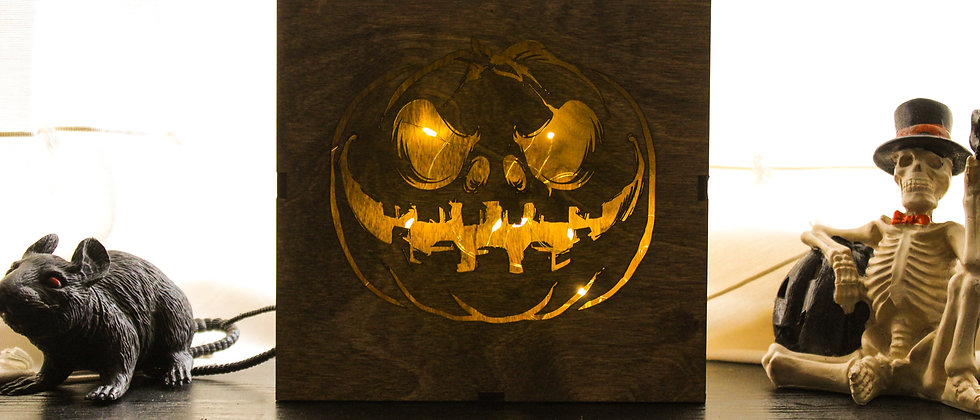 Halloween Pumpkin Light Box