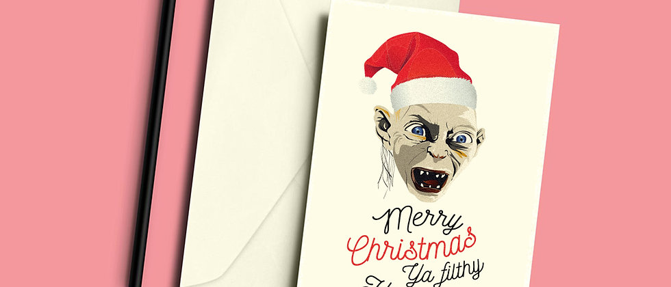 Gollum Christmas Greeting Card