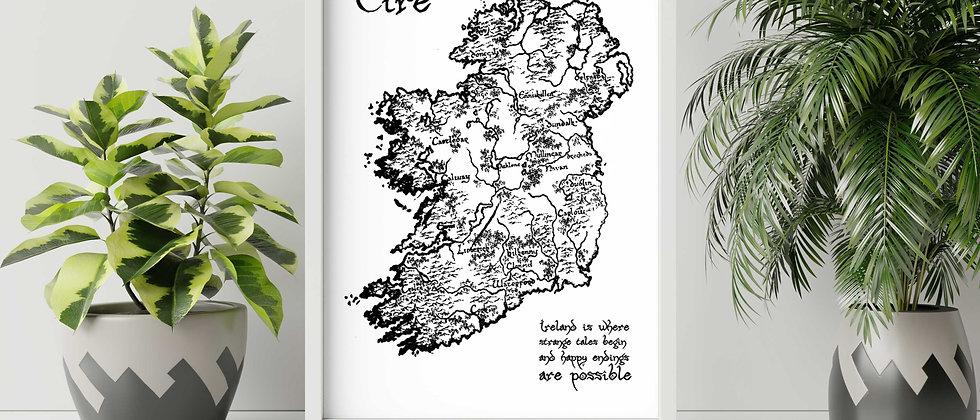 Vintage Éire Map Print