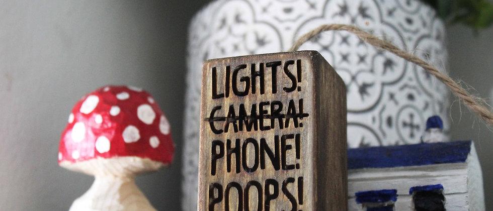 Lights! Phone! Poops! Light Pull