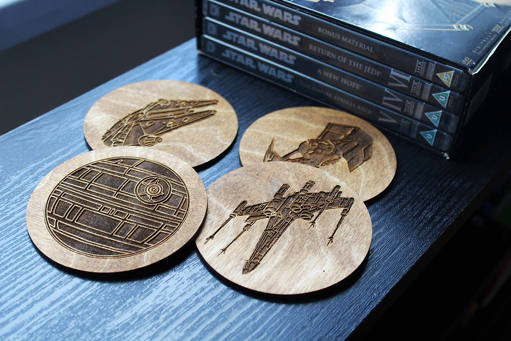 star wars coaster gift for him dad geek