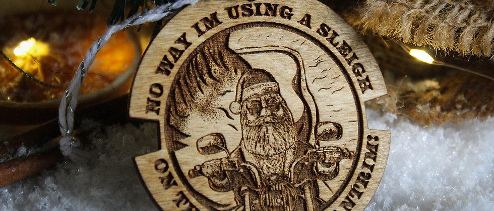 Santa In Antrim Christmas Bauble