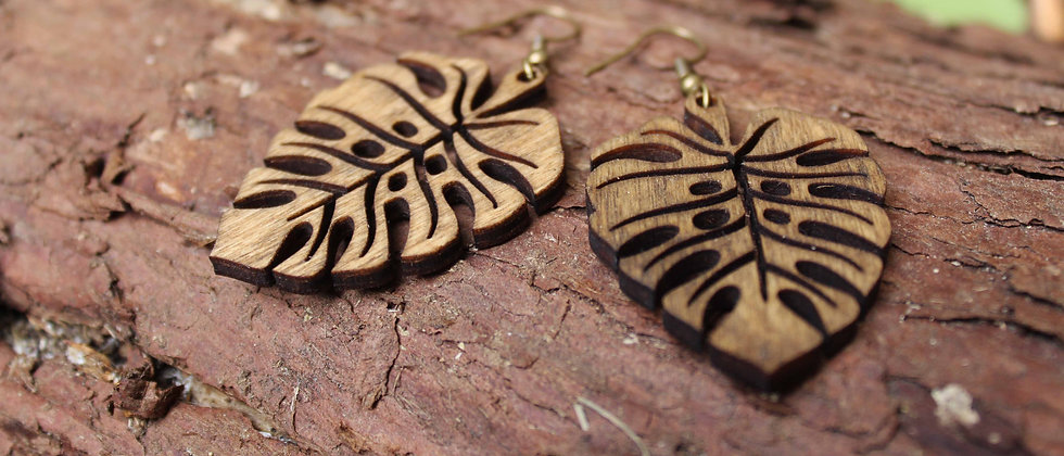 Fat Leaf Earrings