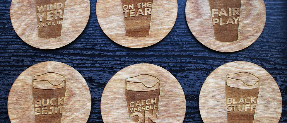 Irish Slang Coasters