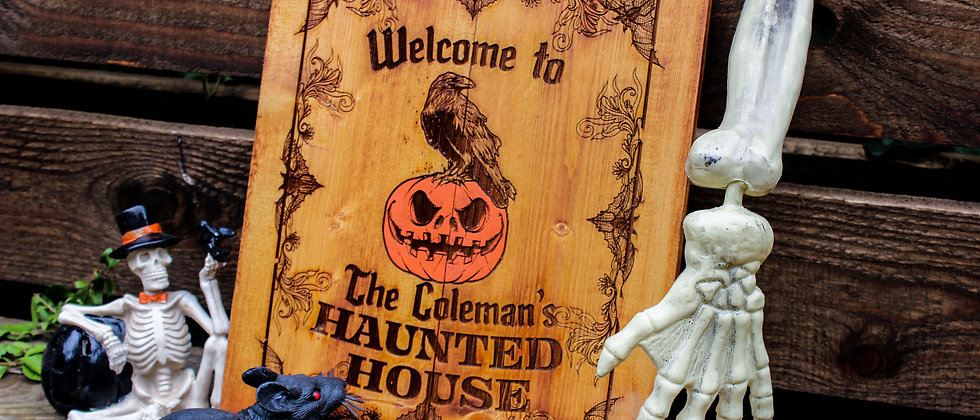 Personalised Haunted House Sign