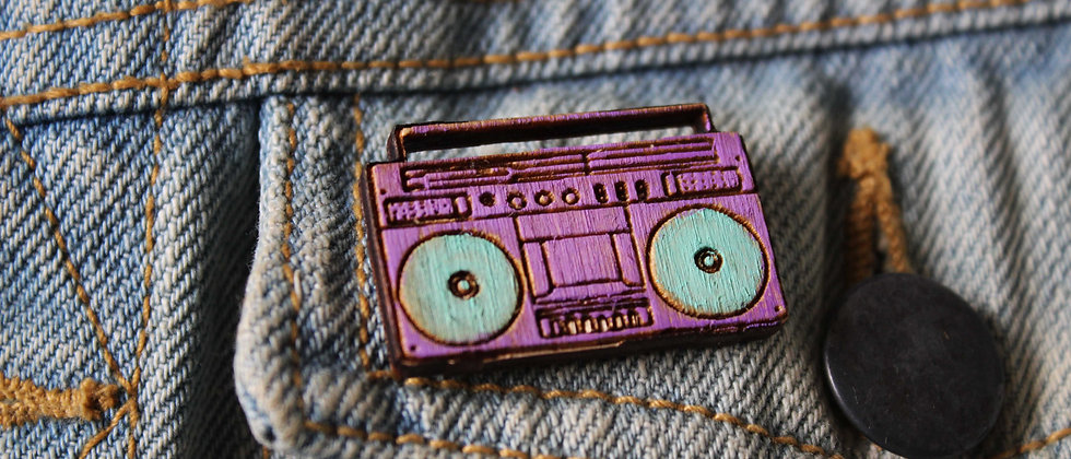 Ghetto Blaster Pin