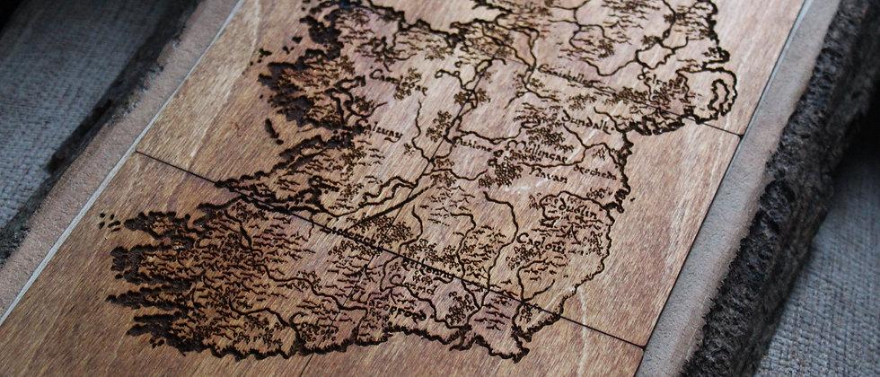 Éire Vintage Map Coasters