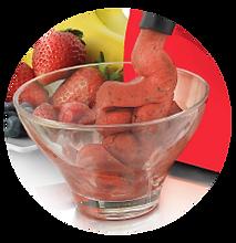 Helado saludable a base de frutas