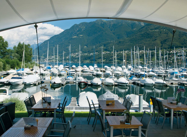 Restaurant Vela Bianca Hafen Ascona