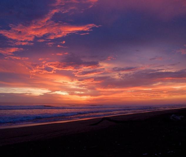 Costa Rica, Ostinal ; Sunset on the Turtle Beach (1)