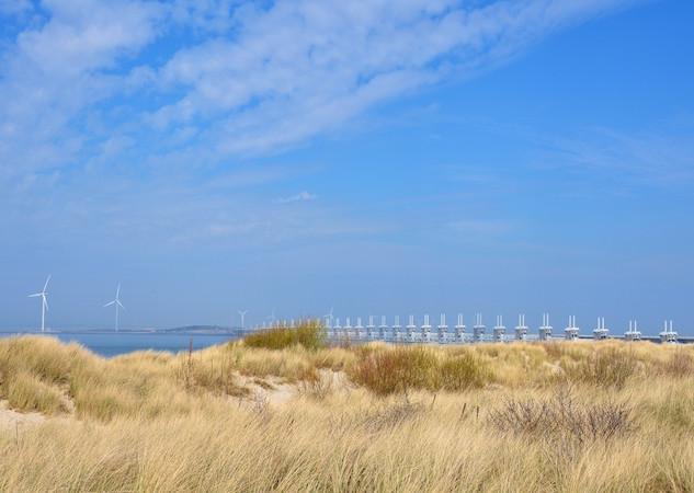 The Netherlands,Kamperland_ Stormvloed kering