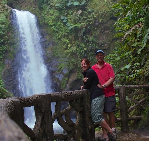 Costa Rica, La Paz Waterfall Gardens; JP and Hannie