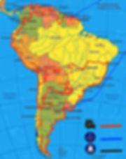 Route van JP en Hannie in Zuid Amerika