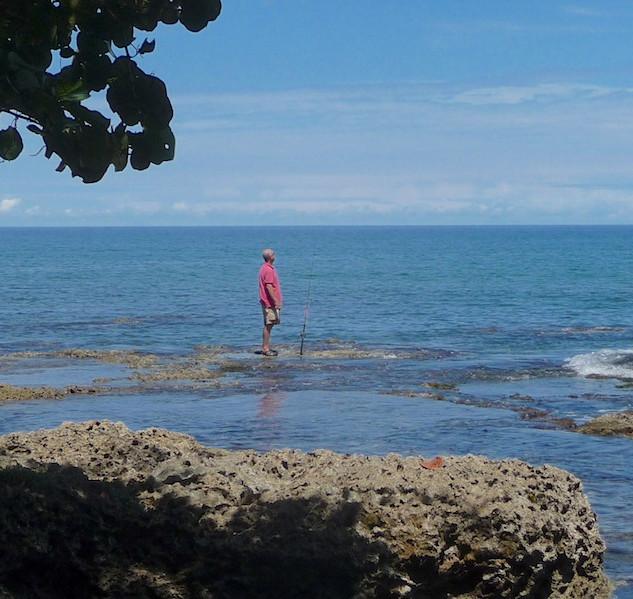 Costa Rica, Cahuita; Camping Maria, the fisher man