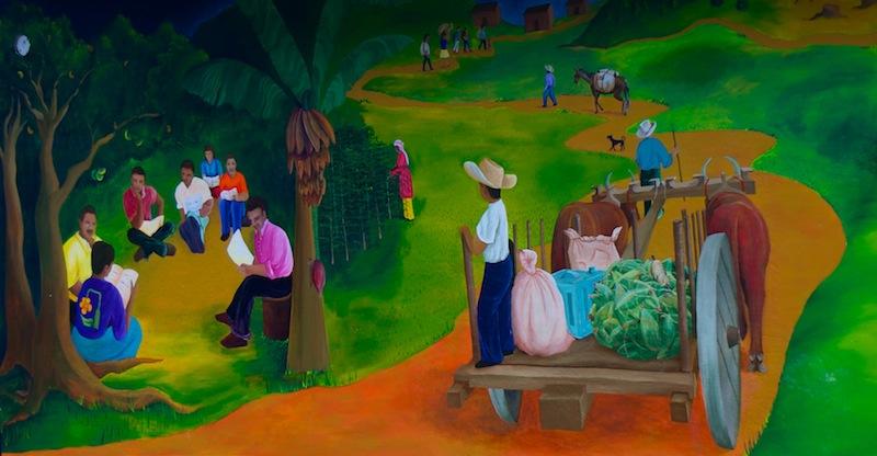 El Salvador, Perquin; Wall painting