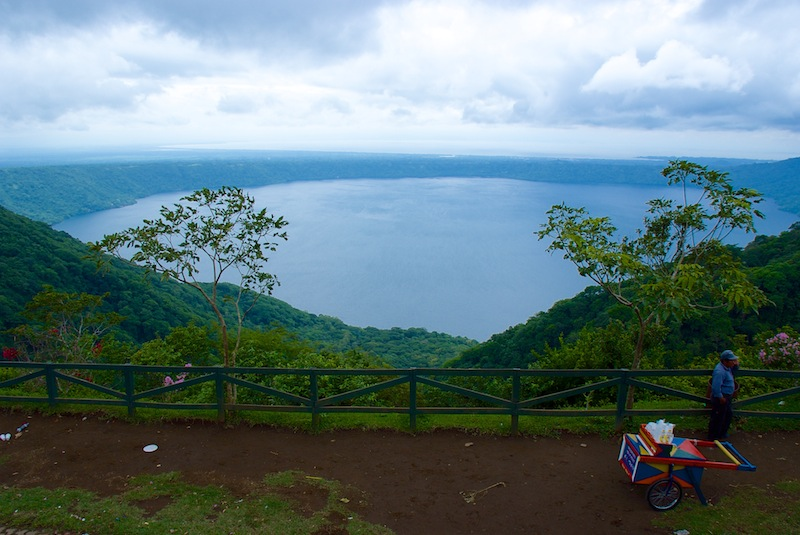 Nicaragua; Laguna Apoyo view