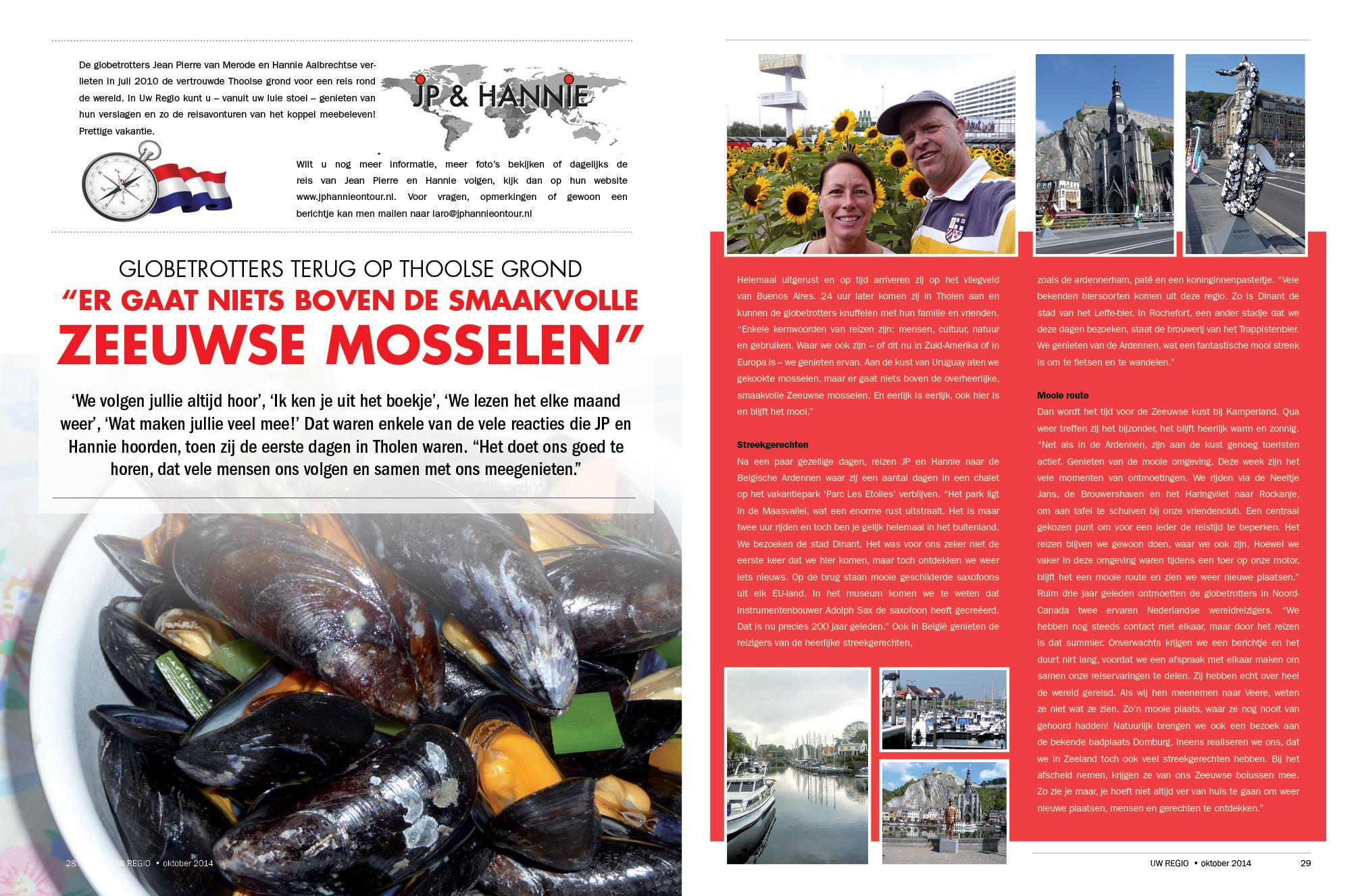 Reisverslag Oktober 2014